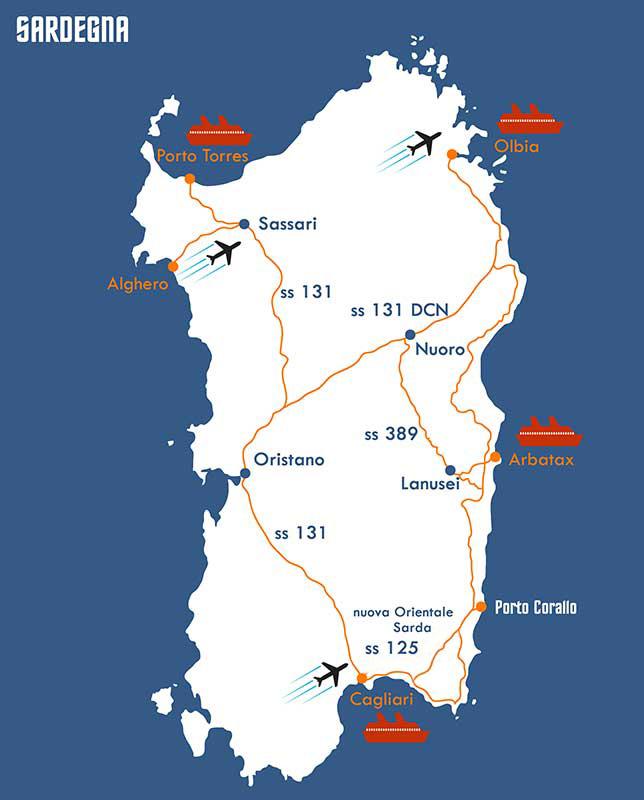 Cartina Porti Sardegna.Contatti Ilborgodiportocorallo
